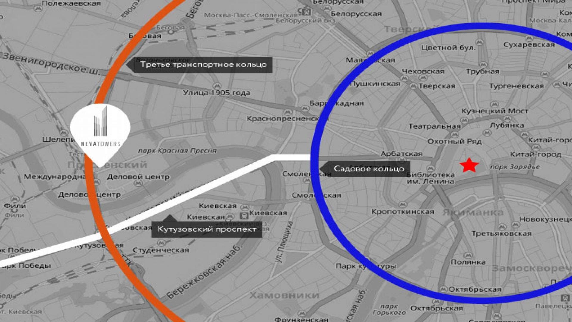 Расположение Neva Towers